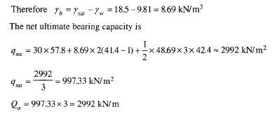 Bearing capacity problem example 3 solution