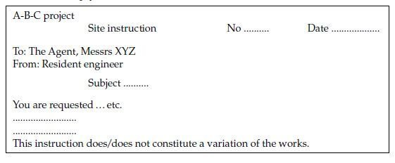 Photo of CVIs from contractor and instructions to contractor